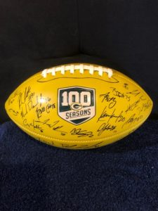 Autographed green bay packers football